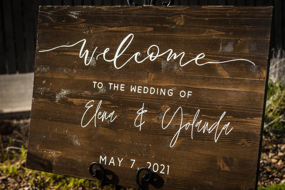 Arrowhead wedding