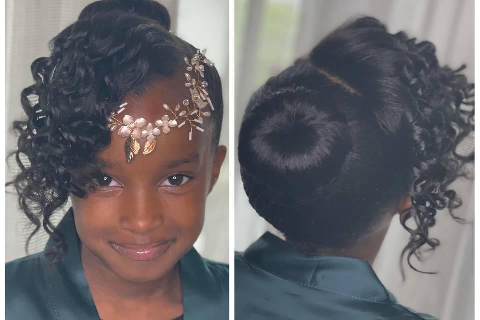 Hair, Updo with bun