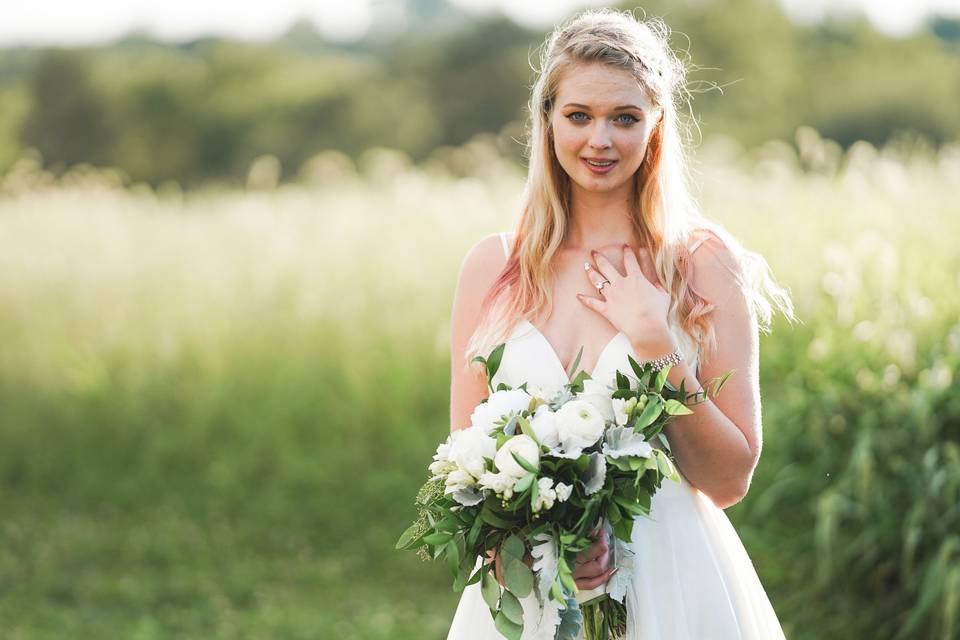 Sarah during bride portraits