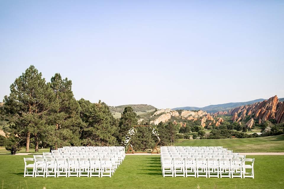 Tent Lawn Ceremony