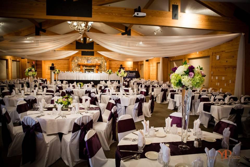 Grand Ballroom reception ready
