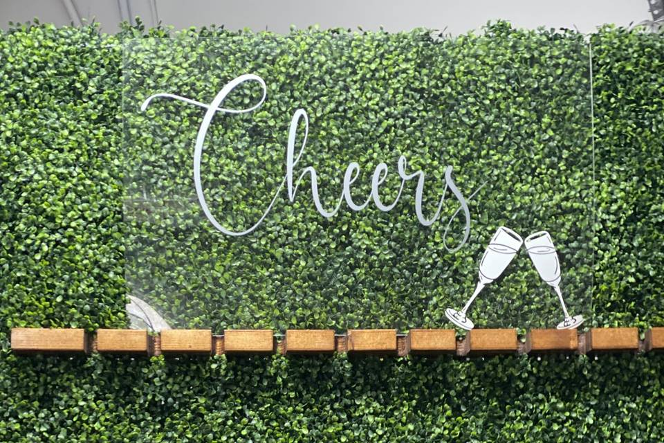 Champagne Wall with