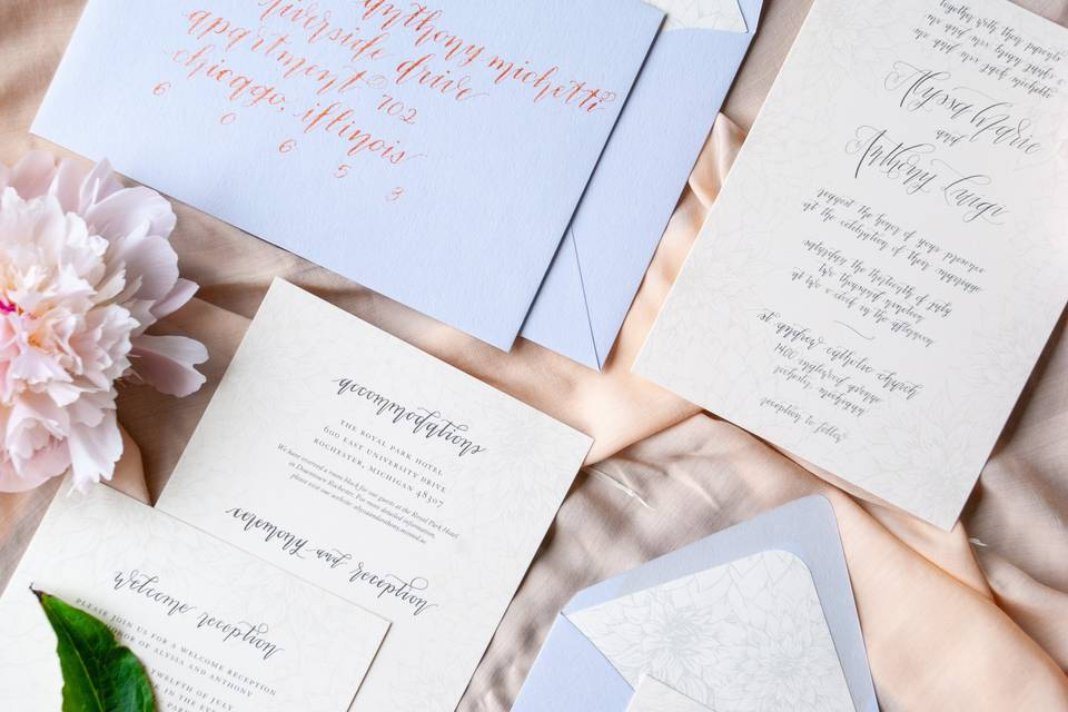 Dahlia Hand Lettering + Calligraphy