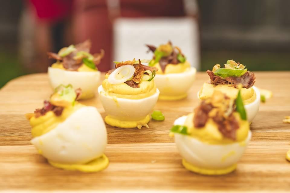 Duck Confit Deviled Eggs