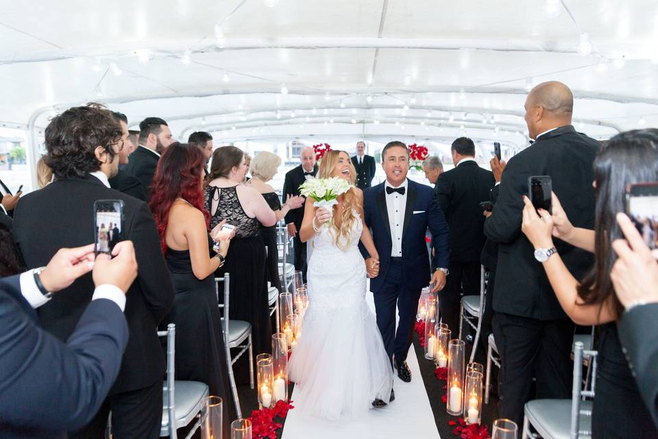 Wedding Ceremony on the yacht ICON