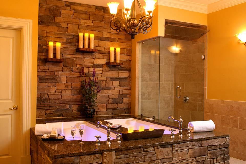 Couples soaking tub
