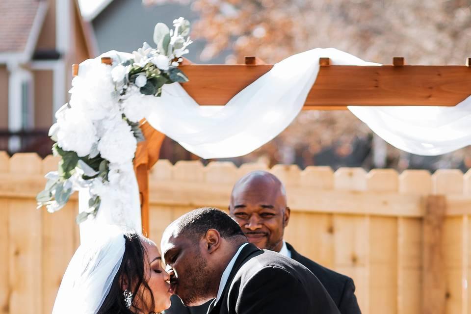 Kansas Backyard Wedding