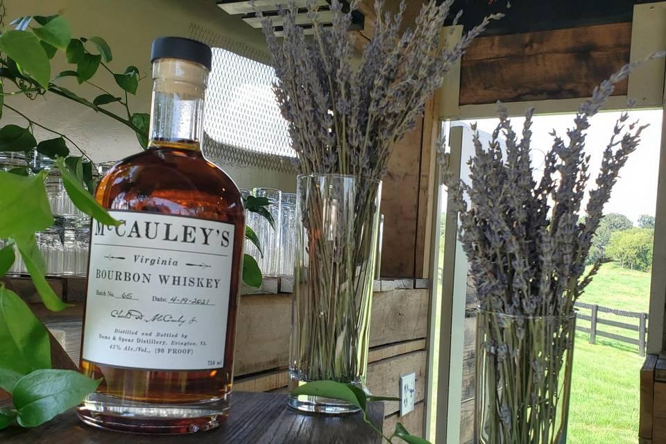 Lavendar and whiskey