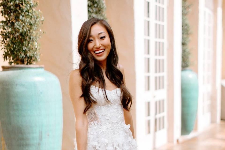 Bride at Bernardo Patio