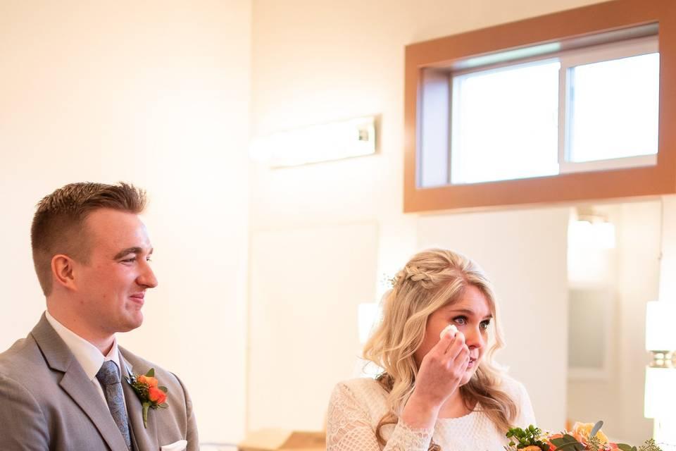 Just got married tears