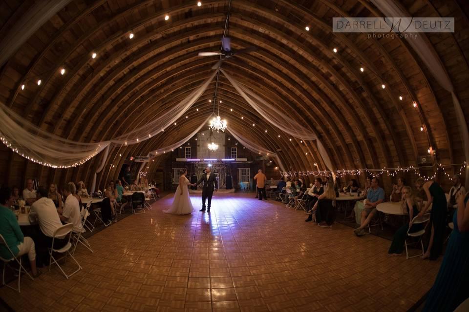Hayloft dance area