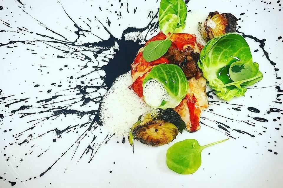 Lobster brussel salad