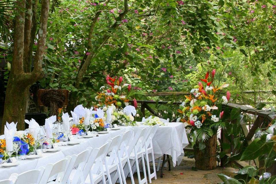Wedding Reception on the River Deck