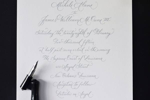 Copperplate Calligraphy Style