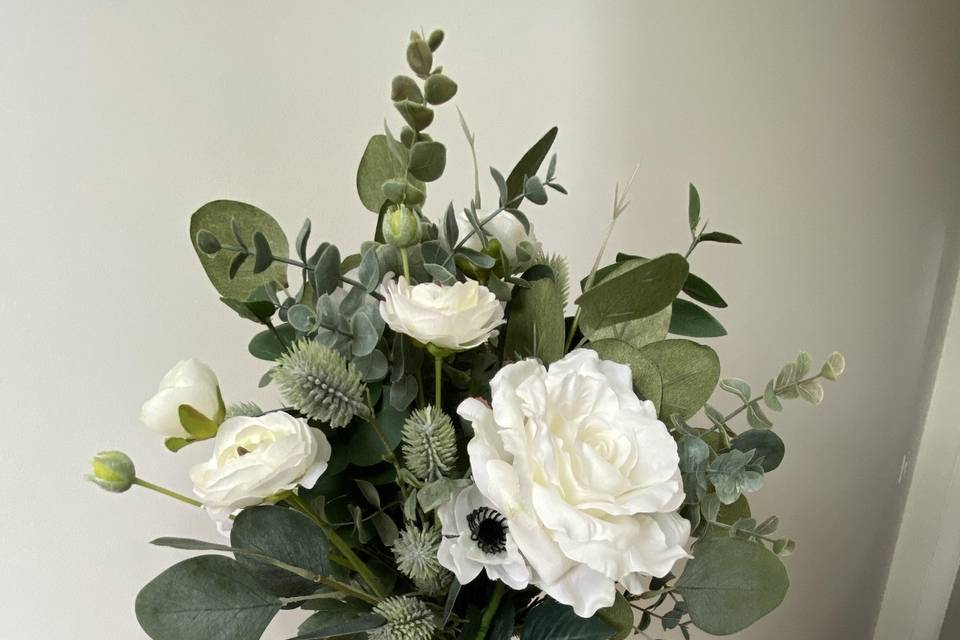 Mock bridal bouquet