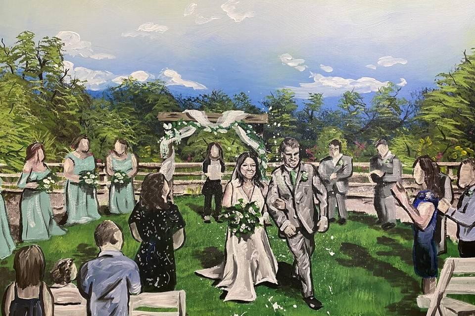 Wedding recession painting