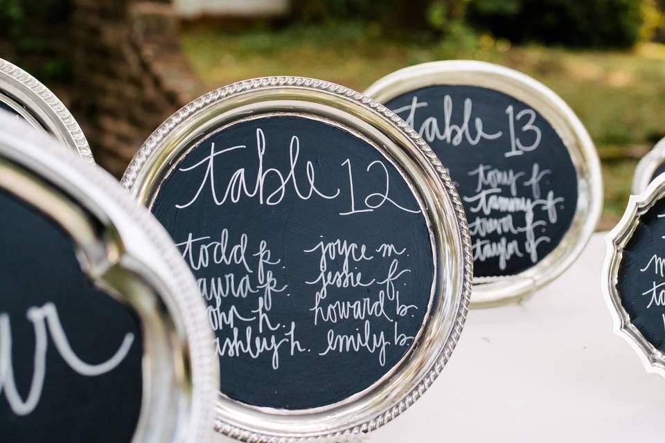 Little chalkboards
