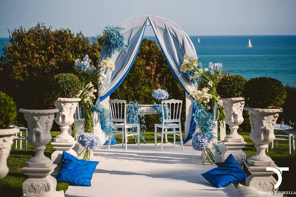 Outdoor ceremony in Rome Wedding planner in Rome available for destination wedding