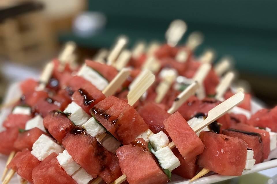 Watermelon Mint Feta Skewers