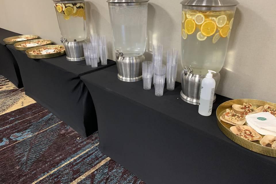 Refreshment table