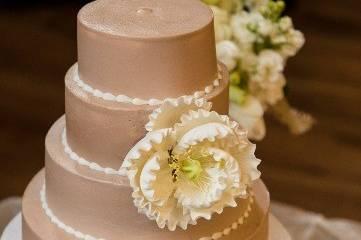 Mini four-tier wedding cake