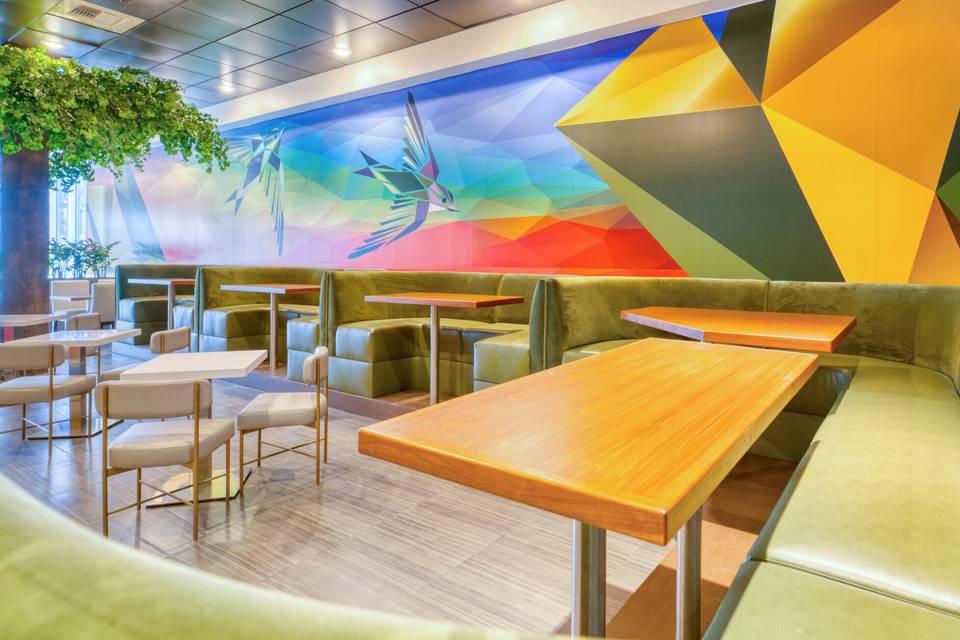 Art Houz Restaurant with bright colors