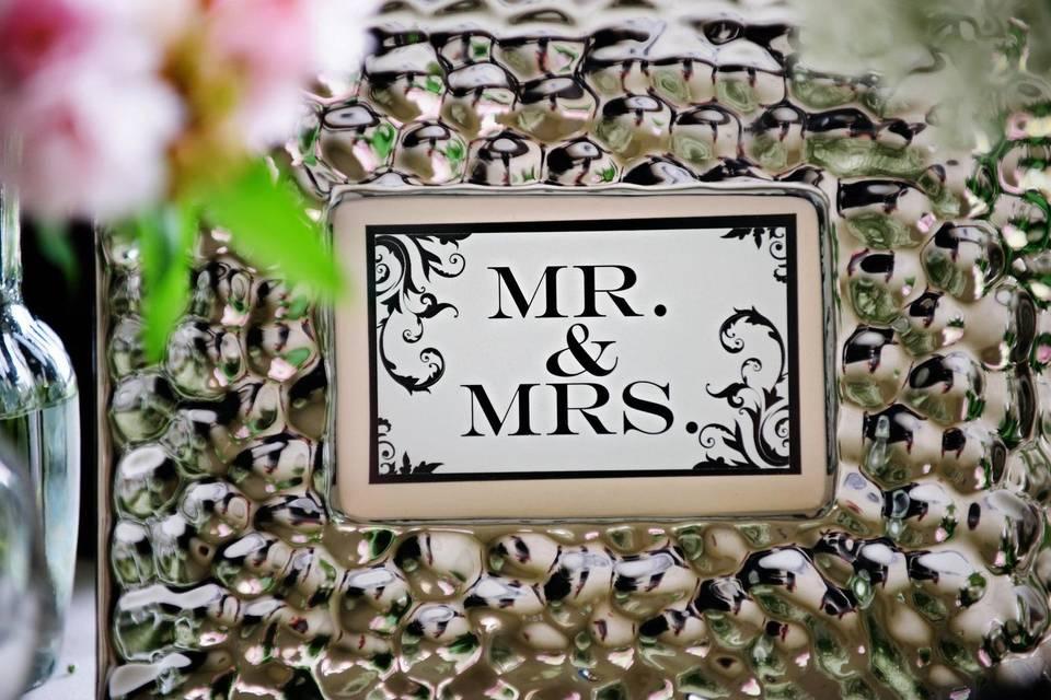 Mr. + Mrs. Sign
