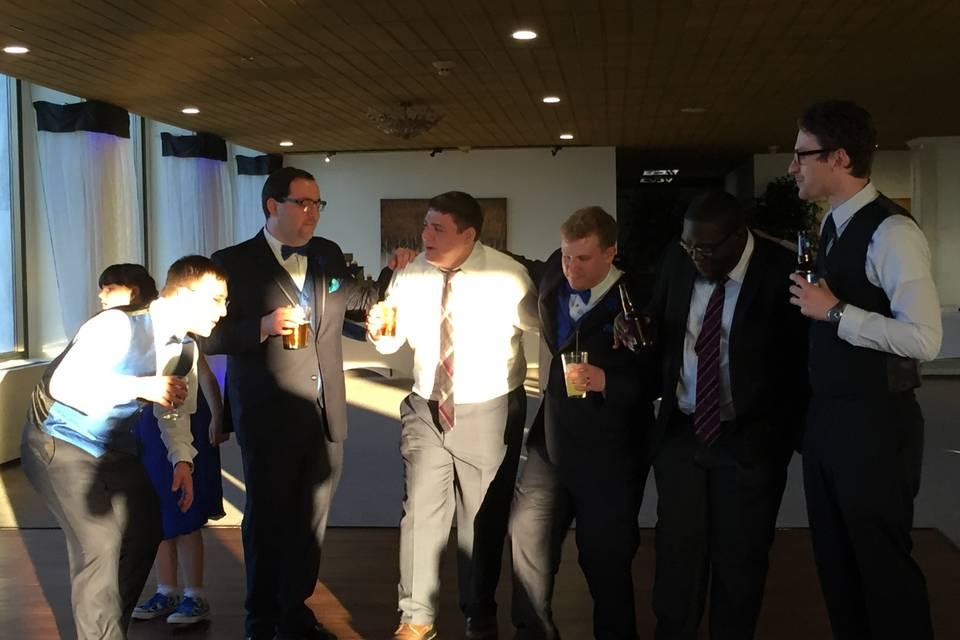 Enjoying the reception