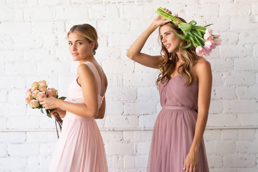 Elegant bridesmaid gowns