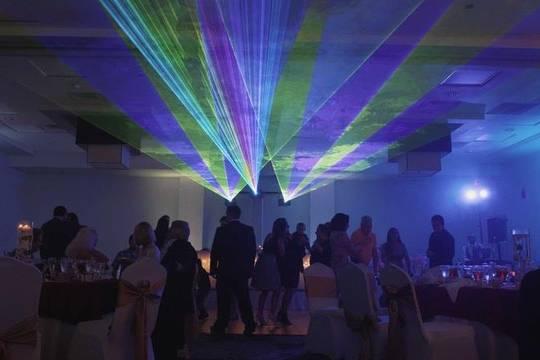 Laser Light Uplighting