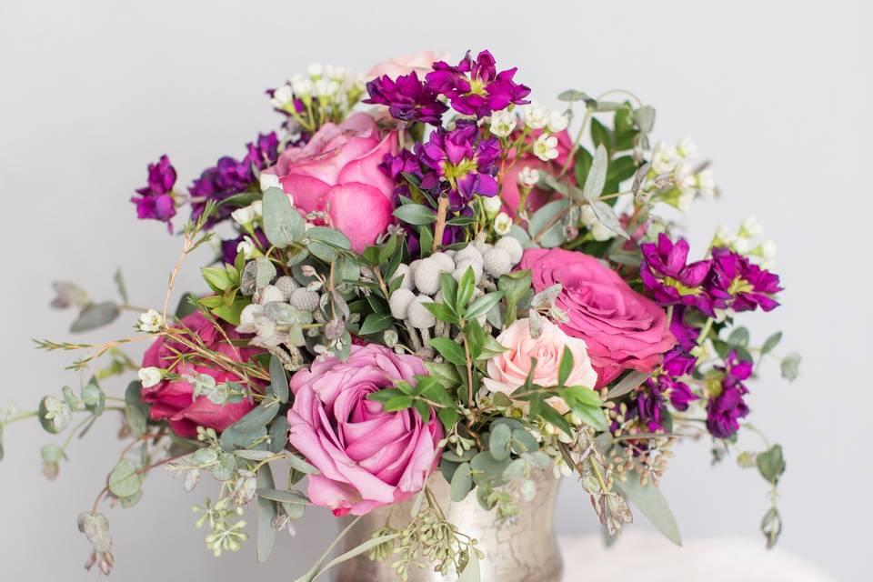 Colorful spring arrangement