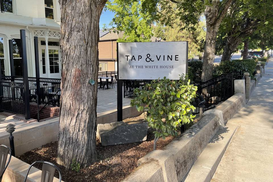 Tap & Vine at the White House