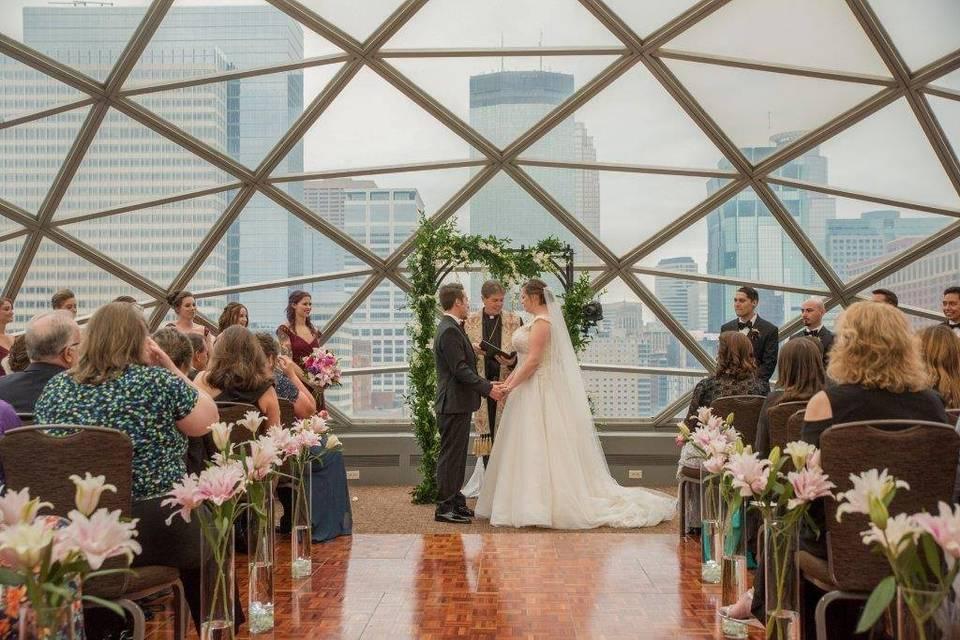 Stunning ceremony space