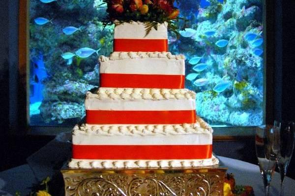 Sample four tier wedding cake