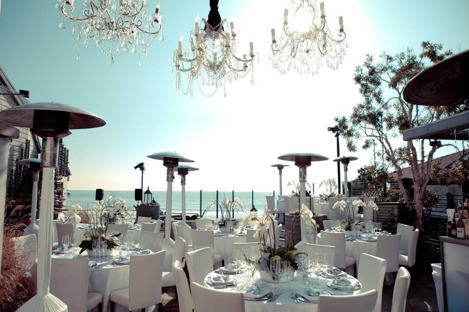 Malibu Beach winter wedding