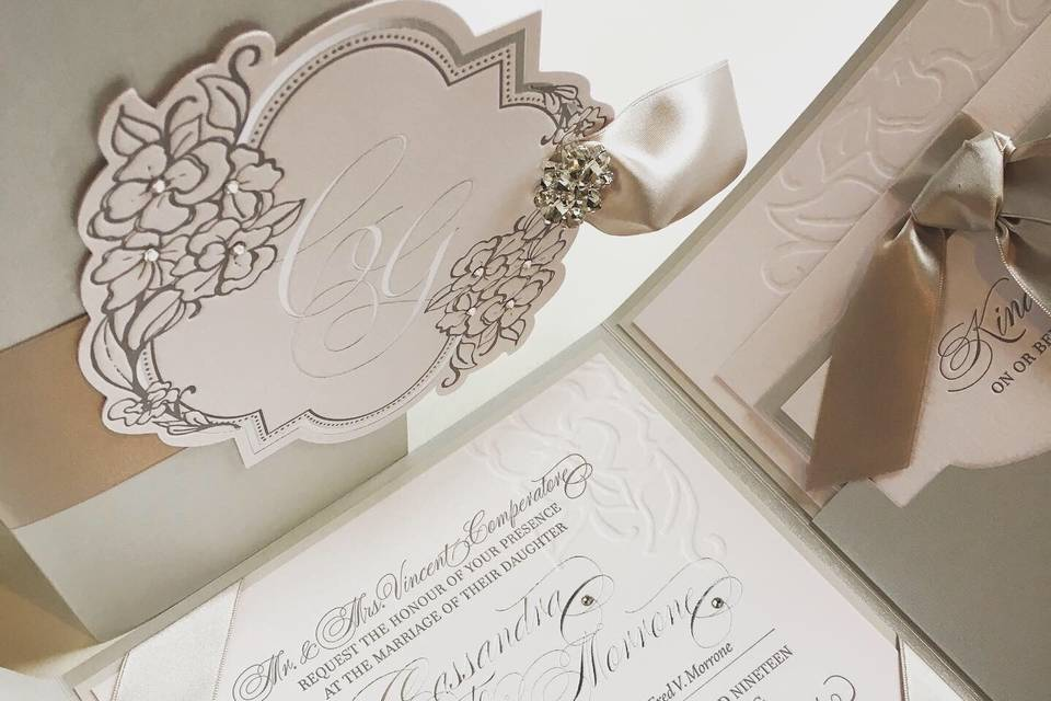 Blush wedding open folio