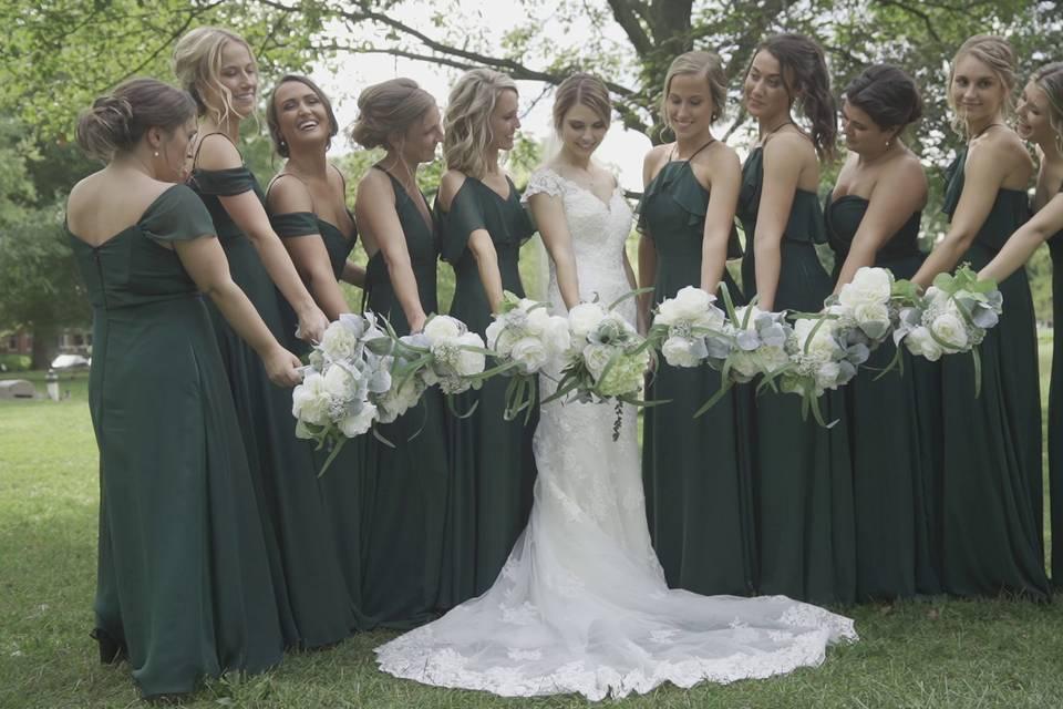Big bridal party!