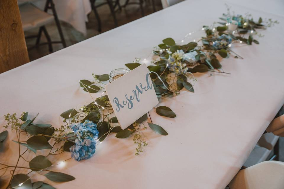 Reserved Table Setting