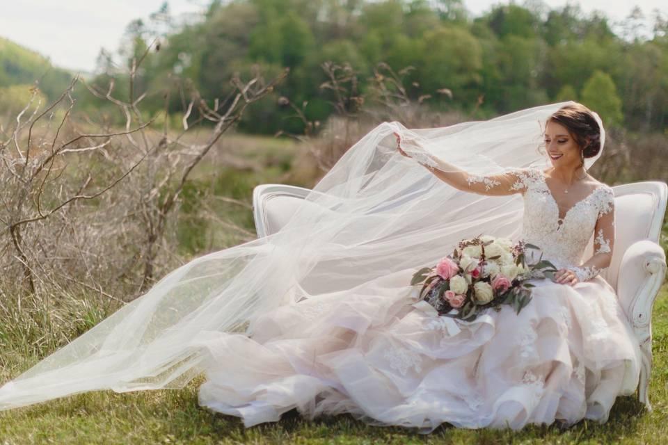 Beautiful bridal photoshoot