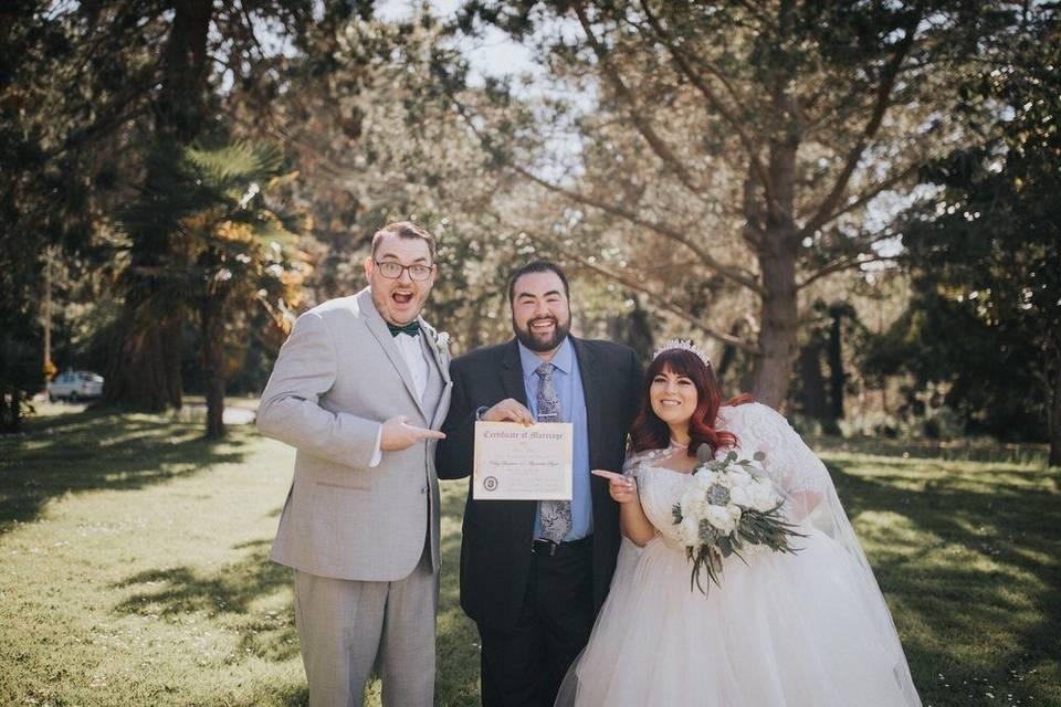 Wedding Minister Watsonville