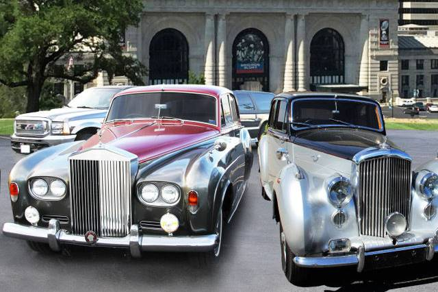 A range of vintage cars available