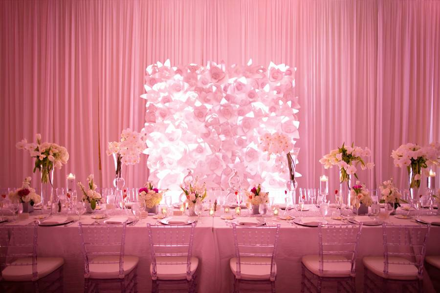 Pink head table