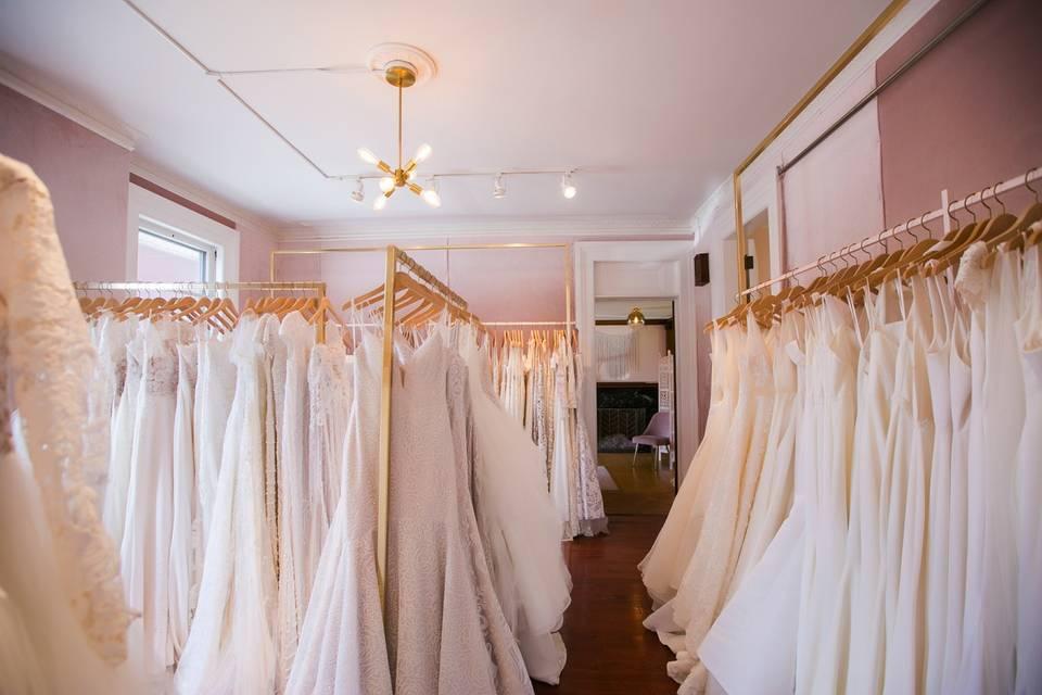 Many, many dresses