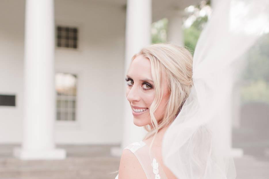 Bridal shoot makeup