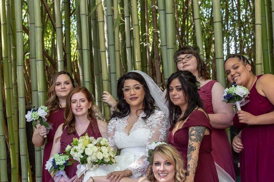 Glam wedding party