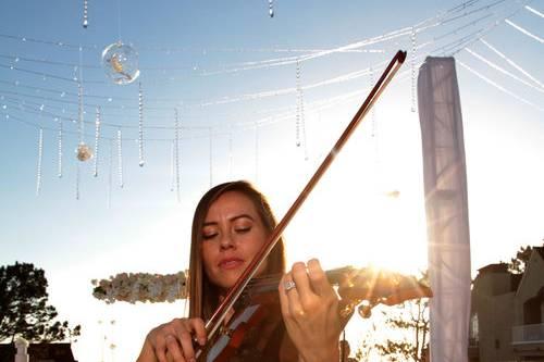 Live violin accompaniment