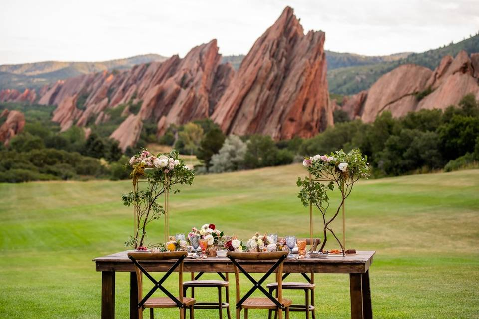 Outdoor weddings with views