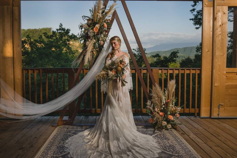 Bride in the Sky View Pavilion