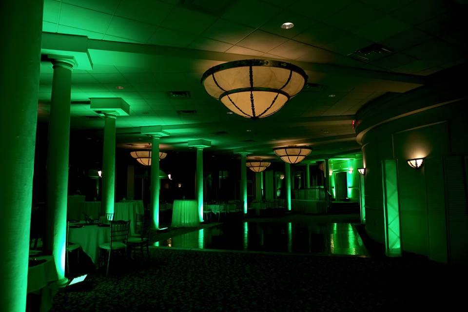 Green uplighting