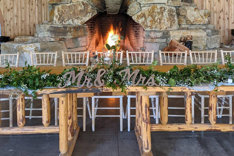 Pavilion fireplace